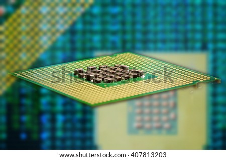 cpu processor on black background