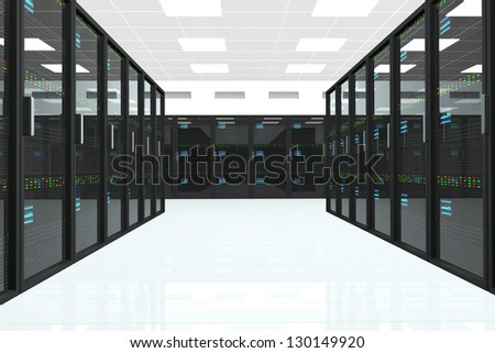 CPU Server Unit Room - stock photo