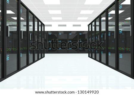 CPU Server Unit Room - stock photo