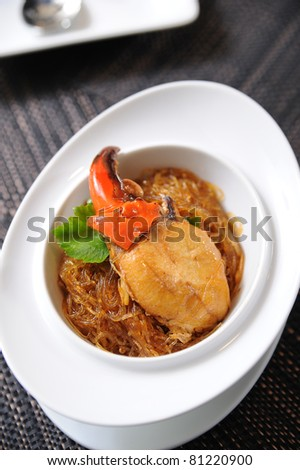crab and vermicelli - stock photo