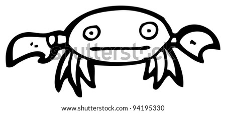 crab cartoon (raster version)