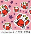 Crab Pattern - stock vector