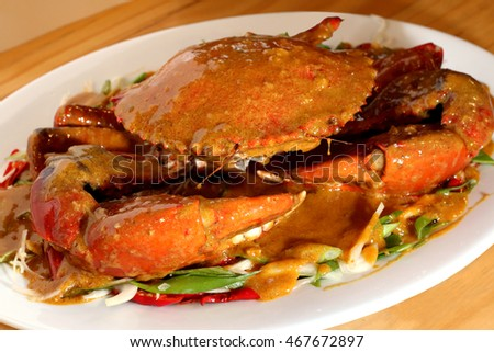 Crab Sauce with vegetable