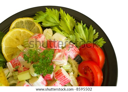 Crabsticks and celery salad