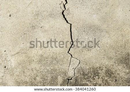 Crack - stock photo