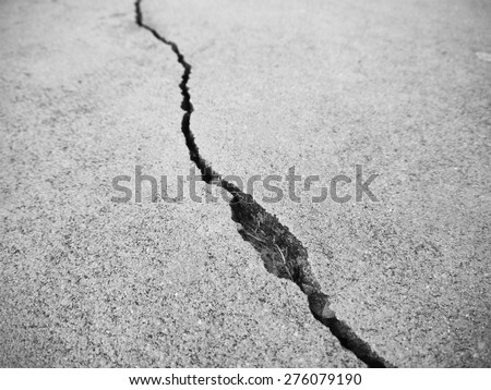 crack floor texture closeup - stock photo
