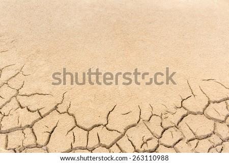 crack ground in dry season  - stock photo