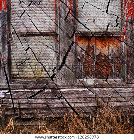 Crack house - stock photo