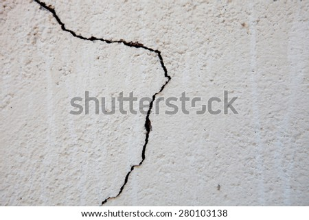Crack in outer wall. Photo for wallpaper - stock photo