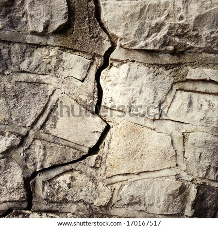 Crack in rock wall