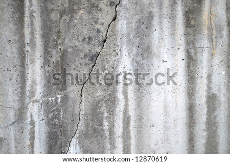 Crack in wall - stock photo