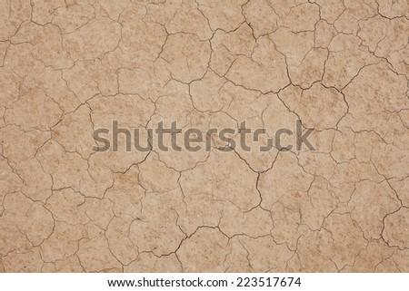 crack land texture - stock photo