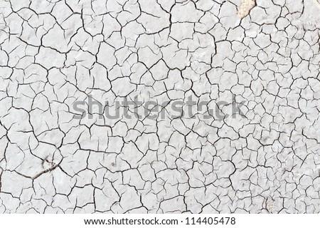 Crack soil on dry season, Global worming effect. - stock photo
