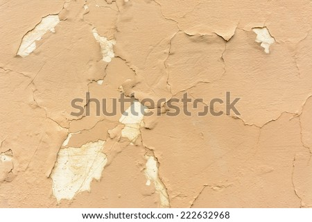 Cracked and weathered paint - stock photo