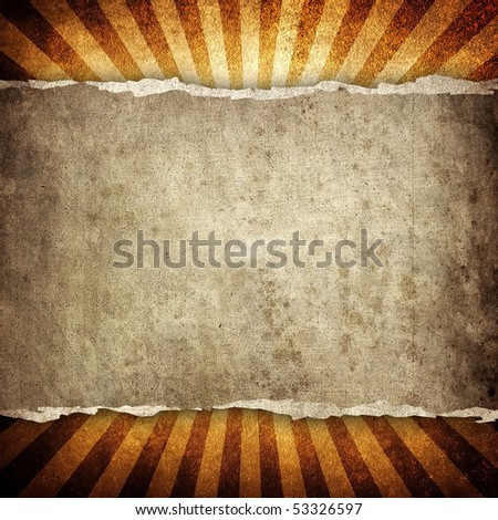 cracked background with retro pattern - stock photo