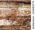 cracked brick wall [Square size] - stock photo