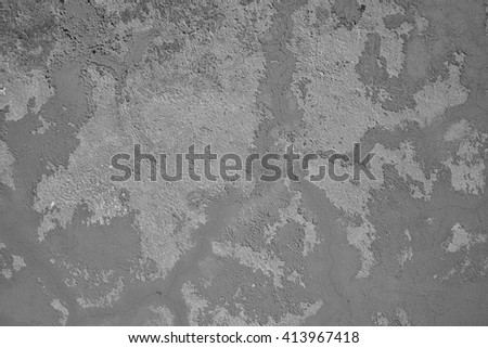 cracked concrete vintage wall background,old wall, black and white  - stock photo