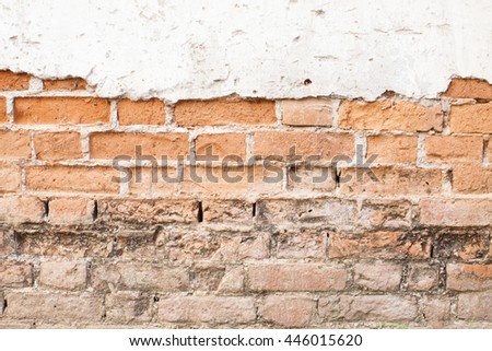 cracked concrete vintage wall background with wood,old wall.