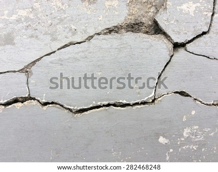 Cracked concrete wall.Abstract background