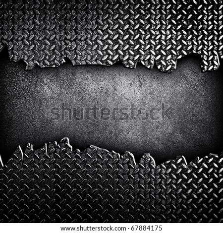 cracked diamond plate - stock photo