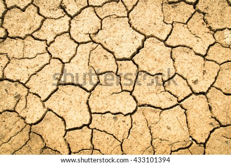 Cracked dry land without water.Abstract background or cracked dry land background,  land background or dry land and cracked dry. - stock photo