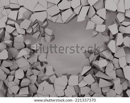 Cracked earth abstract background 3d illustration - stock photo
