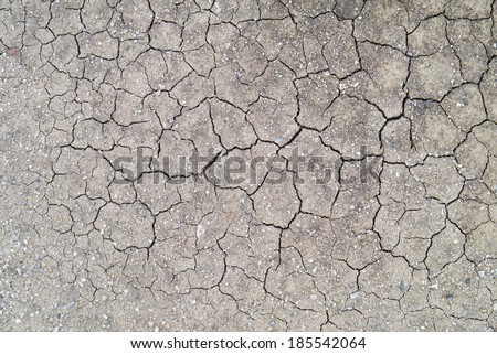 Cracked earth texture art background. - stock photo