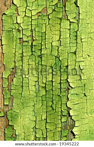 Cracked green Paint Background