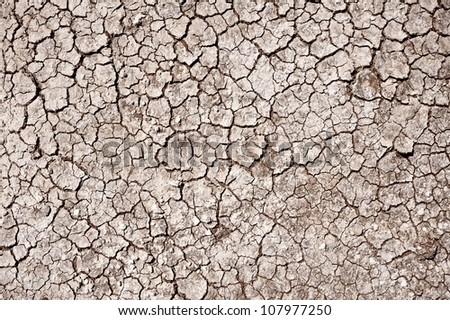 Cracked Ground Background. Natural Drought Theme. Badlands National Park, SD, USA. - stock photo