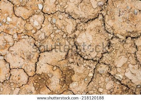 Cracked ground texture background - stock photo
