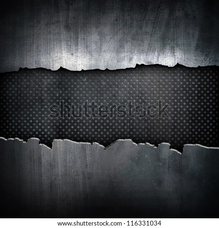 cracked iron background - stock photo