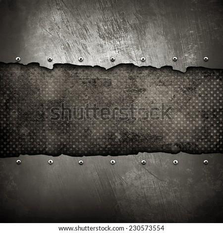 cracked iron background  - stock photo