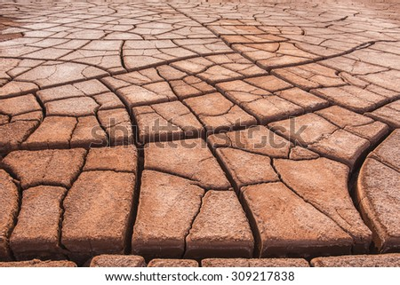 cracked land & drought & thirst - stock photo