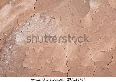 Cracked mud found in the Badlands National Park South Dakota. - stock photo