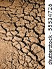 Cracked Mud with Drought in Region that has no water - stock photo