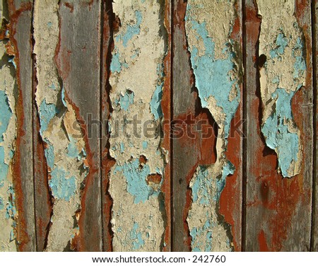 Cracked paint - stock photo