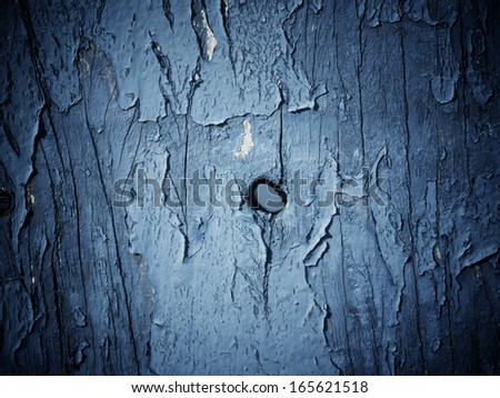 CRACKED PAINT ON WOOD TEXTURE - stock photo