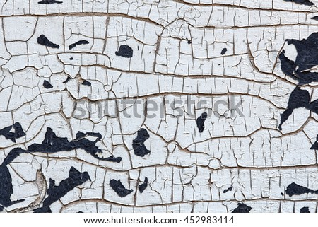 Cracked Paint On Wood, Texture Background