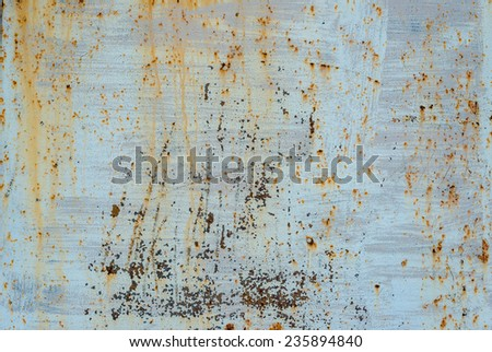 Cracked painted old metal texture. Rusted surface. - stock photo
