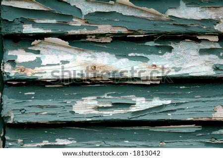 cracked painting - stock photo