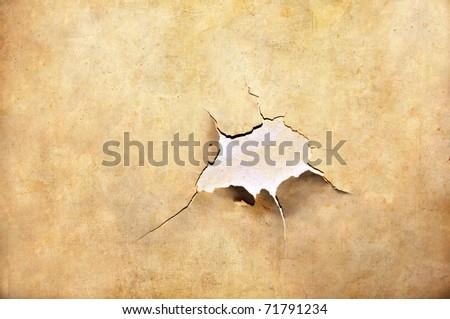 cracked paper - stock photo