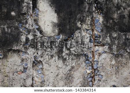 Cracked plaster background - stock photo