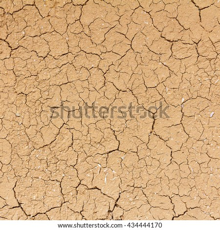 Cracked soil texture background into the dry season for design. Cracked soil ground global warming effect. - stock photo