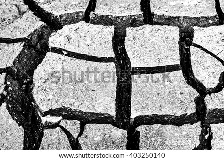 Cracked soil texture for background.