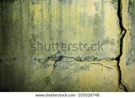 cracked wall - stock photo