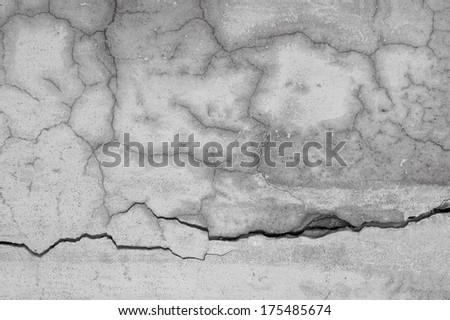 Cracked wall background - stock photo