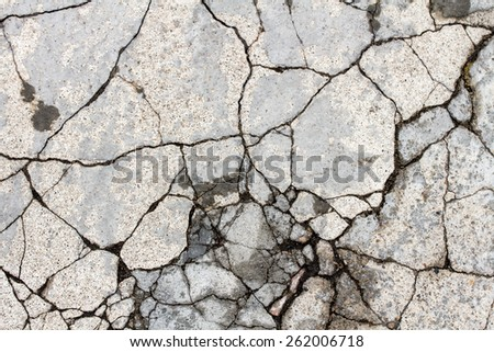 Cracked wall texture,  background - stock photo