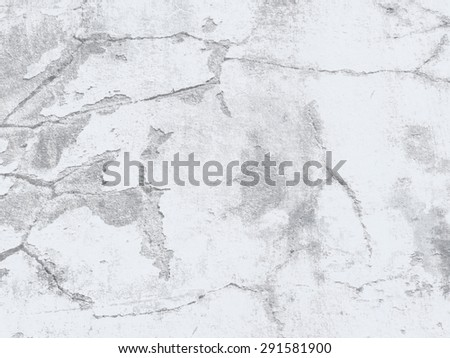 Cracked wall texture - grey concrete background - stock photo