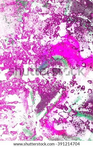 cracked wall with peeled colors - stock photo