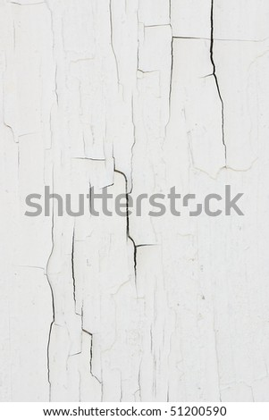 Cracked white paint - stock photo